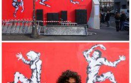 جدارية للفنان المبدع مراد سبيع تخطف انظار المارة في باريس