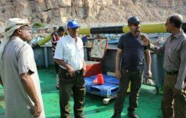 مؤسسة مواني البحر العربي تبدأ بإعمال الصيانة بالرفاص دانم 61 بميناء المكلا