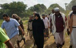 رئيس انتقالي لحج وعضو الهيئة العليا للاغاثة يطلعان على احتياج مشروع مياه الصرداح