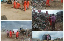 تواصل أعمال حملة النظافة الشاملة في عموم  مناطق مديرية البريقة
