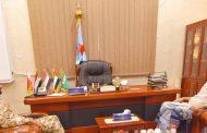 القائد السعدي في حزام أمن أبين يطلع رئيس المجلس الانتقالي على أخر المستجدات