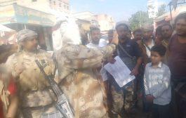 الحزام الأمني يدشن الحملة الأمنية في مدينة جعار والمناطق المجاورة