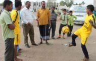 مدير مكتب التربية والتعليم لحج يدشن المسابقات الرياضية للمدارس الأهلية