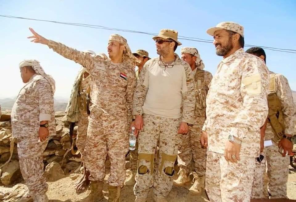 قيادة التحالف بعدن تزور معسكر القطاع الغربي بردفان