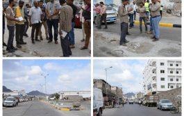 صندوق صيانة الطرق يتسلم مشروع اعادة تأهيل شارعي الكباش والميناء بالمعلا