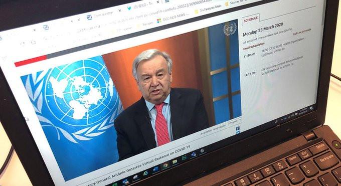 الامين العام للامم المتحدة : ضعوا حدا لمرض الحرب وحاربوا المرض الذي يعصف بعالمنا
