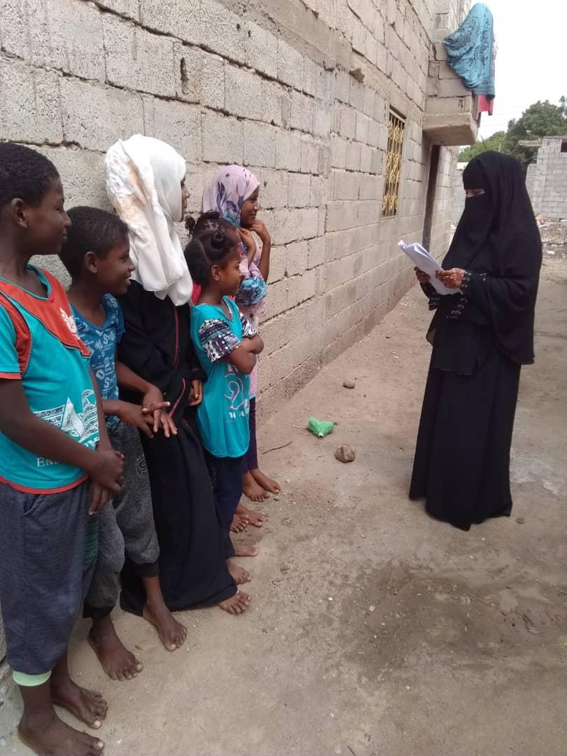 جمعية البركة النسوية بأبين تدشن حملة تطوعيه صحية ( مجتمع واعي) ضد وباء الكورونا المستجد