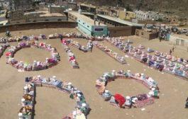 منظمة ديفرستي تطبق طرق الوقاية من فيروس كورونا خلال توزيعها المواد الايوائيه للنازحين في مريس