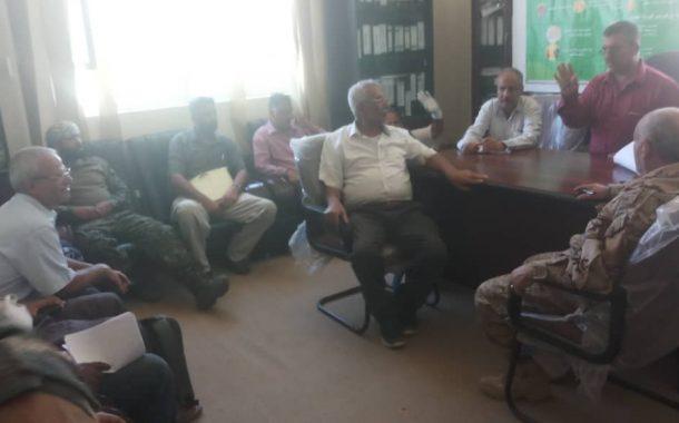 لجنة الطوارئ بالضالع تبحث تنسيق الجهود الأمنية مع قيادة الأمن والحزام الأمني