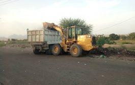 صندوق النظافة تبن يطلق حملة واسعة لرفع مخلفات القمامة شمال وغرب لحج