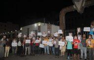 وقفة احتجاجية بمدينة تعز للمطالبة بالكشف عن مصير المصور الصحفي اصيل سويد .