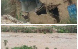 السلطة المحلية في حضرموت تعلن (حجر وميفع) مناطق منكوبة جراء السيول الجارفة