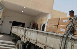 شركة أسمنت الوحدة باتيس تقدم شحنة أولى من المواد الطبية لمركز الحميات محافظة أبين