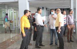 رئيس لجنة طوارئ عدن يطلع على الاجراءات الاحترازية بمطار عدن لاستقبال أول رحلة للعالقين