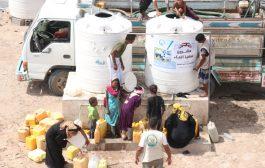 بدعم من الكويت مؤسسة سواعد الخير الإنسانية توزع مشروع سقيا الماء في محافظة عدن