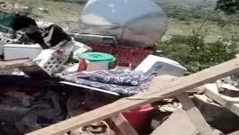 عناصر حوثية تهدم 4 منازل وتطرد ساكنيها في محافظة تعز