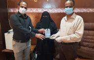 مستشفى الفقيد الجريري بالمكلا يكرم د. أبها باعويضان لدعمها مرضى كورونا