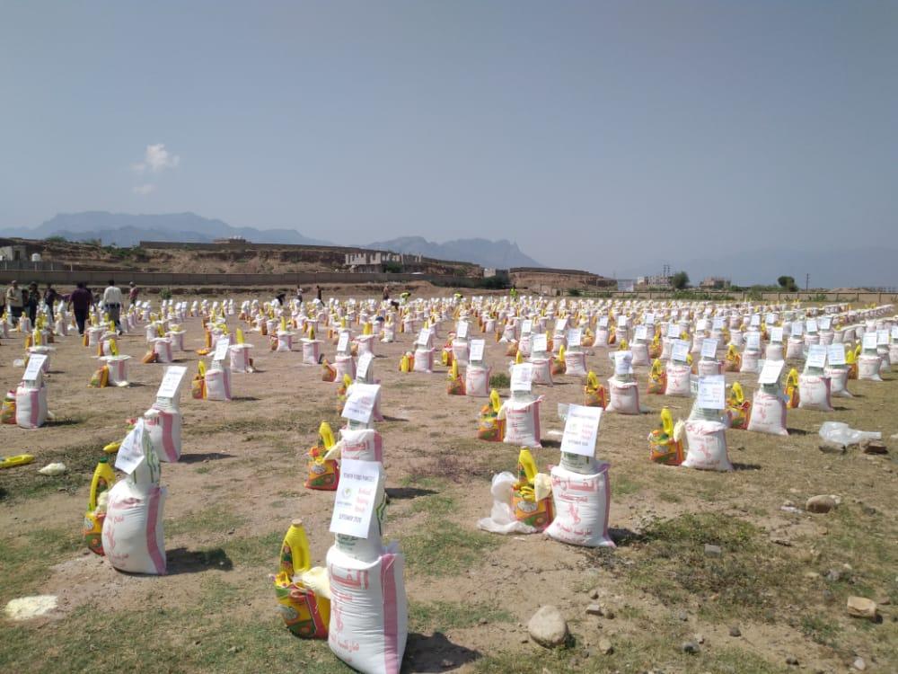 الضالع: تدشين توزيع 1000سلة غذائية للنازحين في قعطبة