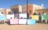 خريجو كلية النفط بشبوة يحتجون ضد قيادة السلطة المحلية