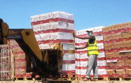 الهلال الأحمر الإماراتي يسير 25 طنا مساعدات غذائية تصل قری الوازعية غرب تعز