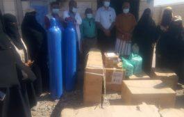 أرضية مشتركة تقدم مستلزمات ومعدات طبية للوحدة الصحية بقرية الخداد بتبن