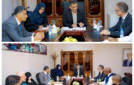 محافظ العاصمة يلتقي المدير القطري لمنظمة