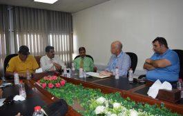 اجتماع موسع يناقش اجراءات تحديث المنظومة الأمنية لمطار عدن