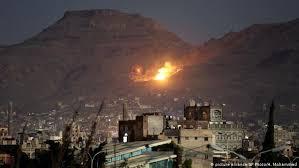 التحالف العربي يشن قصف على المليشيات الحوثية في حجة
