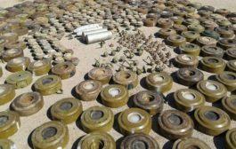 انتزاع أكثر من ألفي لغم زرعها الحوثيون في الأسبوع الثالث من نوفمبر الجاري