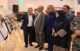الجعدي وأعضاء هيئة رئاسة الانتقالي يفتتحون معرض صور