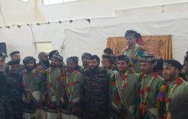 زواج جماعي الأول لـ13 عريس من لواء حراسة المنشآت في عدن