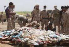قوات الجيش تتلف في محور حرض كمية من المخدرات لمهربين حوثيين