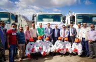 وزير المياة والبيئة ومحافظ عدن يشرفان على تسليم شاحنات الصرف الصحي