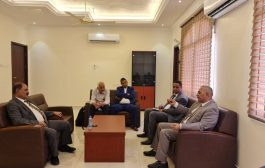 محافظ الضالع يبحث مع وزير المياه استكمال مشروع مياه مدينة الضالع
