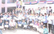 مدير مكتب التربية بلحج ومدير عام يهر يكرمان عدد من المدراء السابقين والطلاب الاوائل