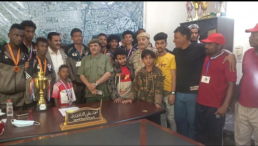 مدير المنصورة يكرم فريق المديرية الحائز على المركز الثالث في بطولة الجمهورية لألعاب القوى