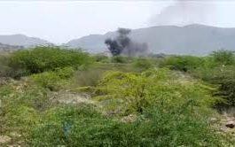 إحباط محاولة تسلل وضربات بالمدفعية على مواقع وتحصينات المليشيات الحوثية