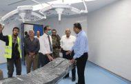 وزير الصحة يطلع على التجهيزات الأخيرة بمشروع تأهيل مستشفى عدن