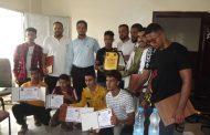 إدارة الشباب والطلاب بانتقالي لحج تكرم الفائزين بالبطولة العربية للجودو