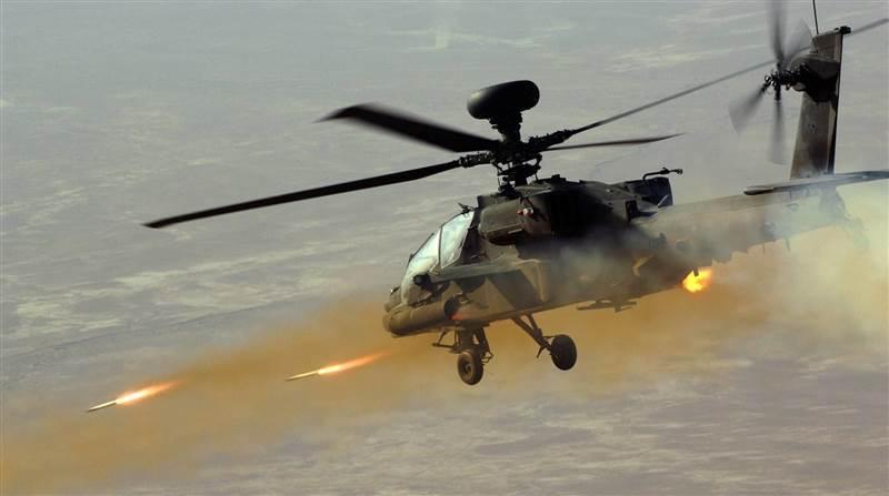 الاباتشي تدخل خط المعركة .. مصادر تؤكد دحر عناصر الحوثي من اطراف الجوبة
